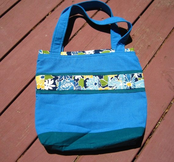 Blue and Teal Tote