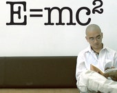 Science Nerd Educational Words Vinyl Wall Decal: E equals mc2, Albert Einstein