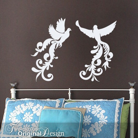 Home Or Wedding Decor Vinyl Wall Decal Birds: Flying By
