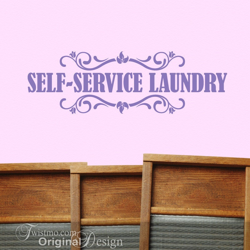 Laundry Room Wall Decor Self Service Laundry Mud Room by Twistmo