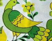 mod pop spring summer lemon lime bird flower tablecloth