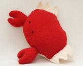 Stuffed Crab Squeaker Pet Toy--Profits Benefit Oil Spill Cleanup