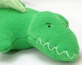 Stuffed Green Alligator Plush Pet Toy--Profits Benefit Oil Spill Cleanup