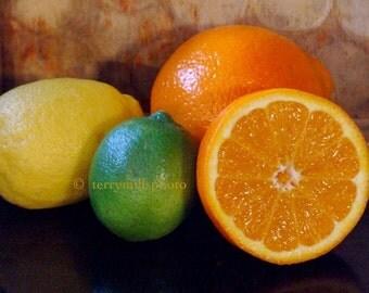 Photo of Green Yellow Orange  Citrus Still Life  8x12