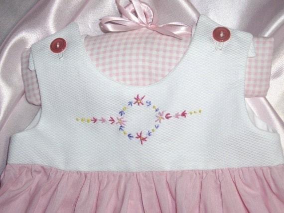 OOAK Pink Toddler Girls Scalloped Sundress