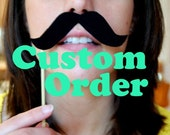 Custom order for kramerclark Photobooth Lips