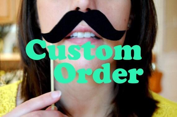 Custom order for kramerclark Photobooth Lips