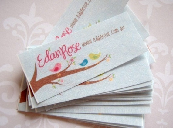 Custom sew in fabric labels - Your logo and text - 90 LABELS