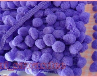 Lavender Pom Pom Laces Embellishments Clothing Tablecloth 2 Yards