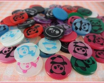 Panda Bear Flatback Animal Card Making Paper Craft Notion 30 Pieces