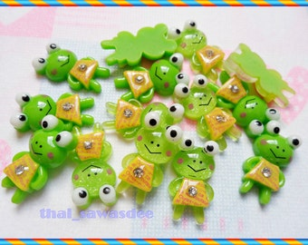 Keroppi Gem Yellow Dress Flatback Findings Embellishments Trim 10 Pieces