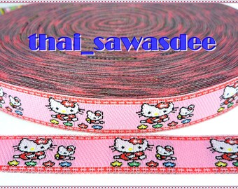 Kitty Mini Flower Kids Ribbon Trim Fabric Woven Sew On 4 Yards
