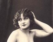 Mature J Mandel French Postcard Beautiful Nude Flapper 1910s/20s