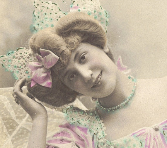 1900s Belle Epoque Actress Miss Campton by Stebbing of Paris