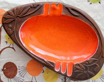 Orange Retro Ashtray