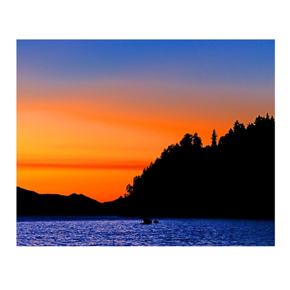 """Summer Sunset on the Puget Sound, Fine Art Photograph, available in 5x7"""", 8x10"""""""