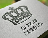 Birthday King Letterpress Card