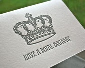 Royal Birthday Letterpress Card