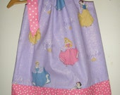 Disney Princess dress Pillowcase  sizes 3,6,9,12,18  months,  ,2t ,3t ,4t ,5t ,6,7,8,10,12