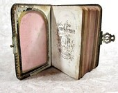 Antique Children's Bible First Holy Communion Little Key of Heaven Religious Holy Book