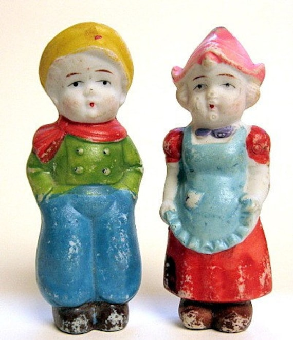 Dutch Boy And Girl Figurine Pair Made In Japan By Autena