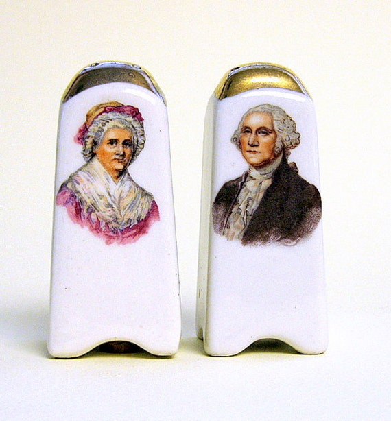 George Washington and Martha Salt and Pepper Shakers