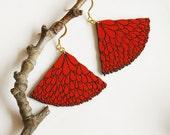 SEMIABANICO-red earrings