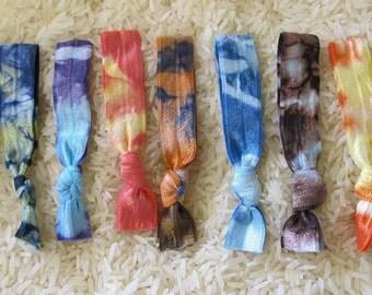 Endless Summer 9 original tie dye elastic hair ties that double as bracelets