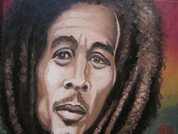 One Love, Bob Marley oil portrait