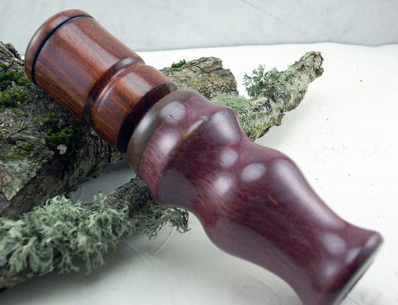 Duck Call Double Reed in Purpleheart and Zircote