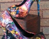X Men high heels (not vintaged)