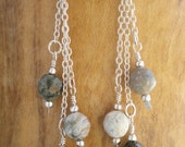Sterling Silver & Jasper Dangle Earrings