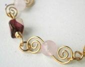 Mookaite, Rose Quartz Bracelet