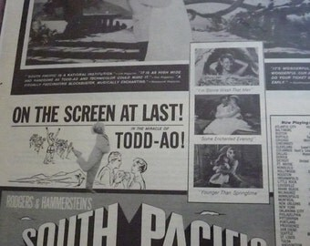 South Pacific Ad 1958 Saturday Evening Post