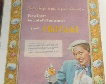 Old Gold Cigarette Easter Ad April  1952
