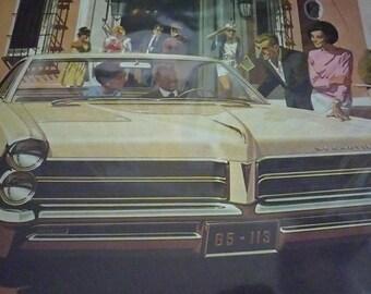 1965 Pontiac Illustrated Ad