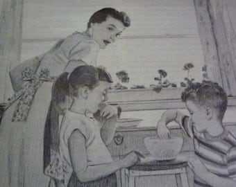 Norman Rockwell MassMutual Ad Campaign Mother Baking