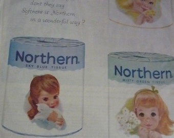 1959 Softness Is Northern Tissue Ad with the Five Girls