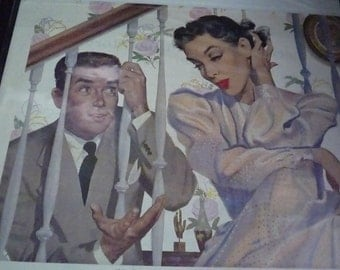 1950s George Englert Story Illustration for A Traitor to His Sex