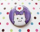 White Cat Pin for Charity