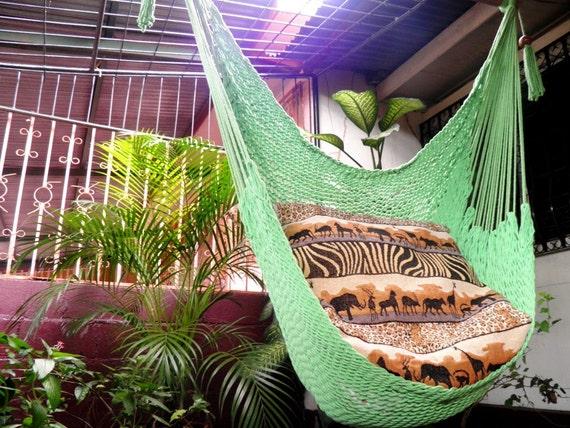 Light Green Wonderful , Hanging Chair Hammock Handmade Cotton for Decoration or Present