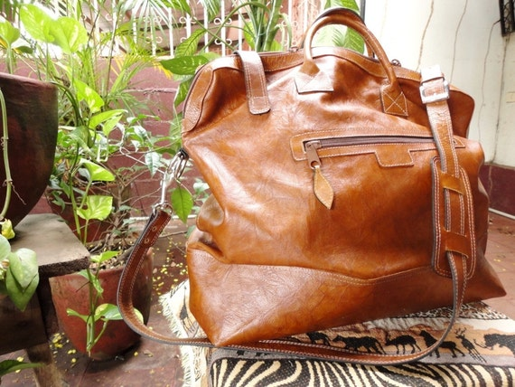 Genuine Natural Duna Honey Leather Large Purse for Woman Handmade