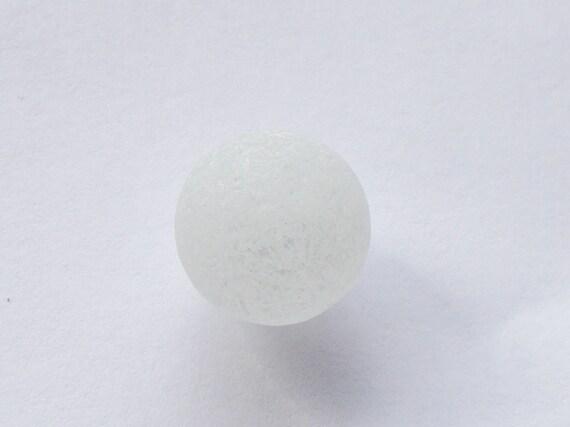 Beach Sea Glass Marble White Peerie - Flawless
