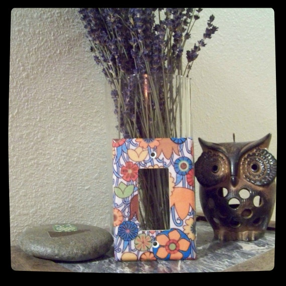 Hippie Pattern Light Switch Cover