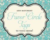Matching Favor Circles for Any Invitation in my Shop