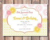 Pink Lemonade Printable Invitation