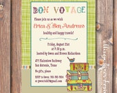 Boho Going Away Party Invite Printable Lime Green Suitcases Bon Voyage Printable Invitation Farewell Party Moving Travel Abroad