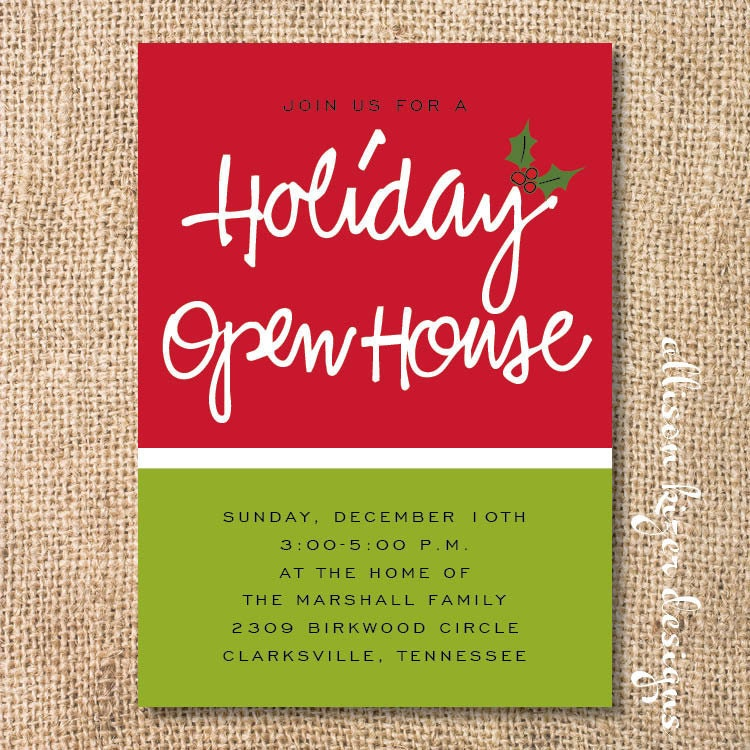 Holiday Open House Invitation Templates | ctsfashion.com