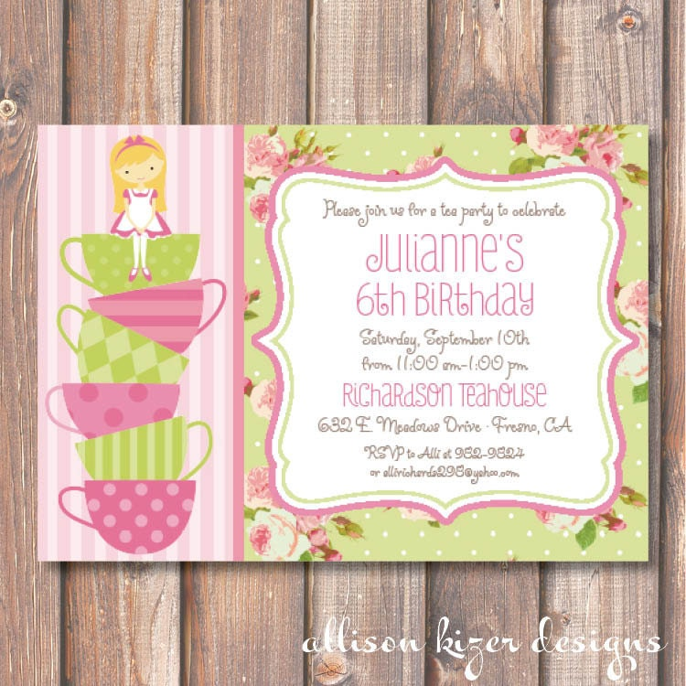 Invitation To A Tea Party Birthday – orderecigsjuice.info