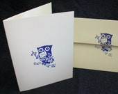 owl note cards // set of 10